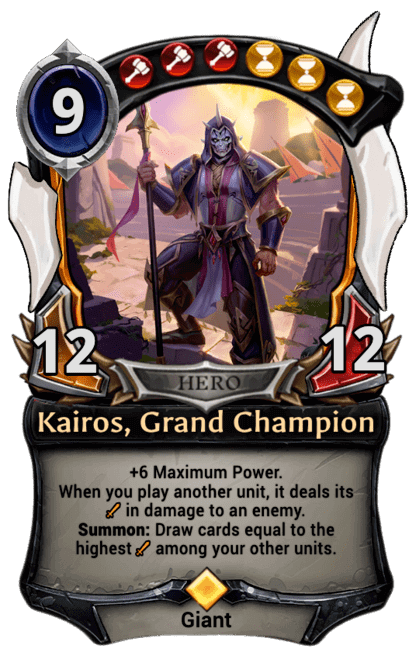 Card image for Kairos, Grand Champion