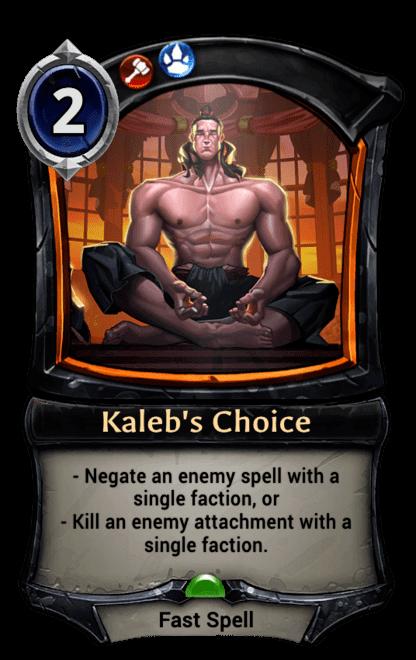 Card image for Kaleb's Choice
