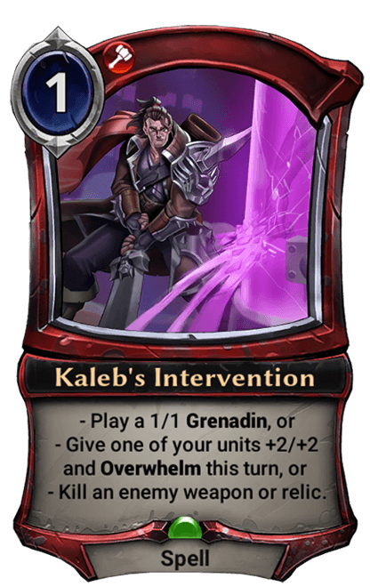 Card image for Kaleb's Intervention
