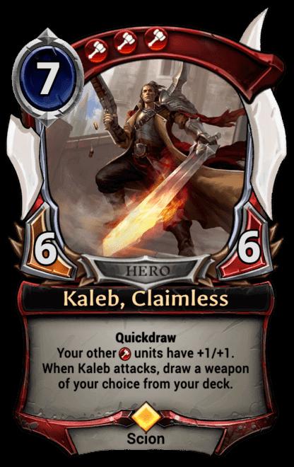 Card image for Kaleb, Claimless