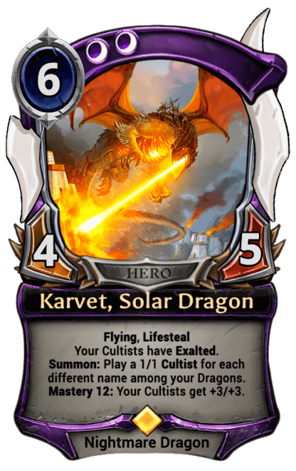 Card image for Karvet, Solar Dragon