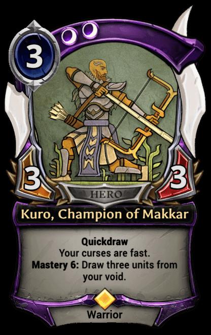Card image for Kuro, Champion of Makkar