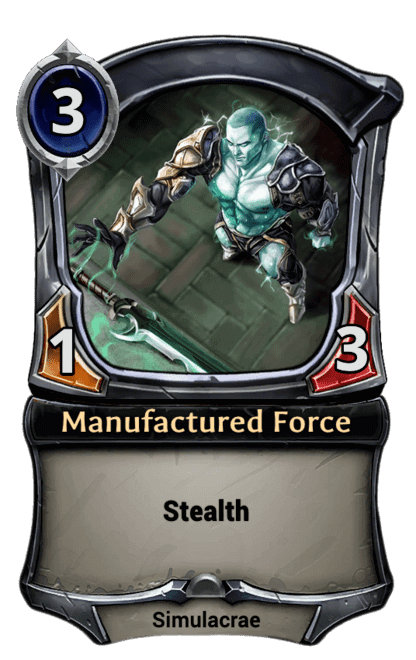 Card image for Manufactured Force
