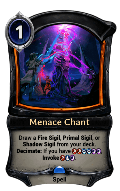 Card image for Menace Chant