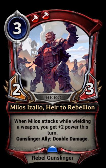Card image for Milos Izalio, Heir to Rebellion
