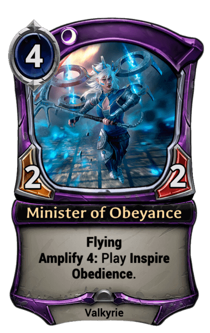 Card image for Minister of Obeyance