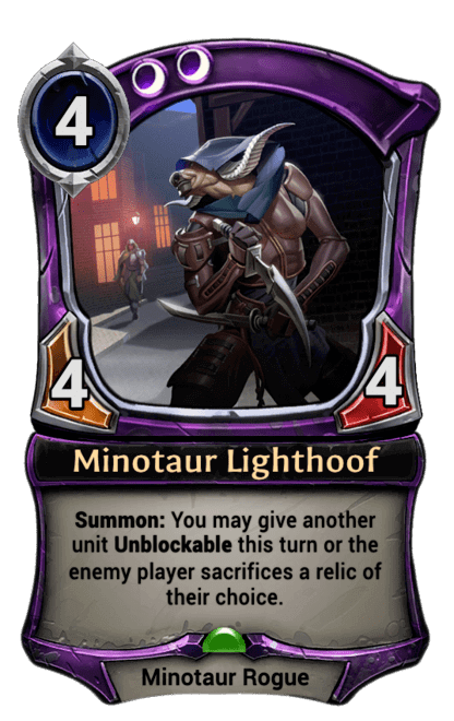 Card image for Minotaur Lighthoof