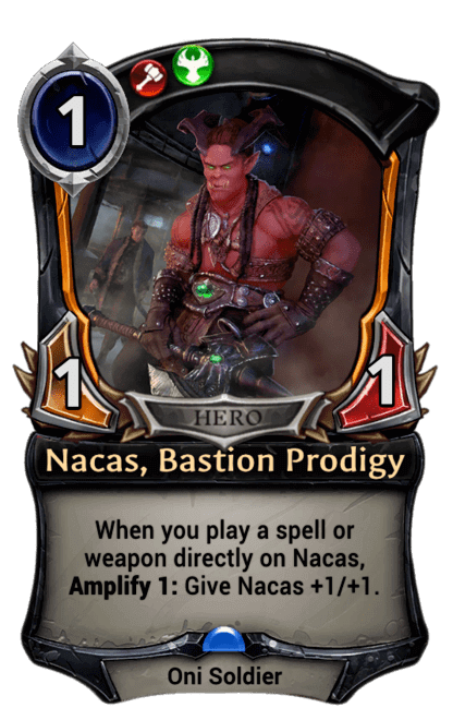 Card image for Nacas, Bastion Prodigy