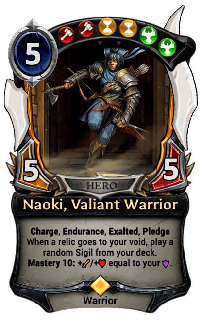 Card image for Naoki, Valiant Warrior