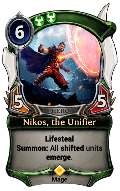 Card image for Nikos, the Unifier