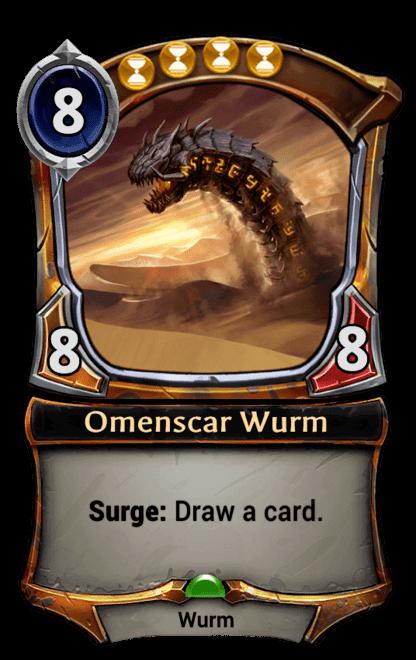 Card image for Omenscar Wurm