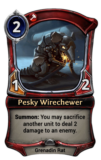 Card image for Pesky Wirechewer