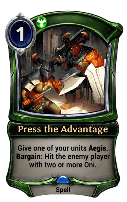 Card image for Press the Advantage