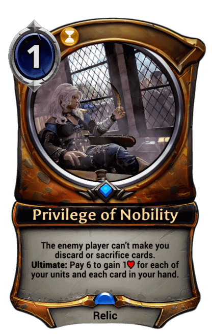 Card image for Privilege of Nobility