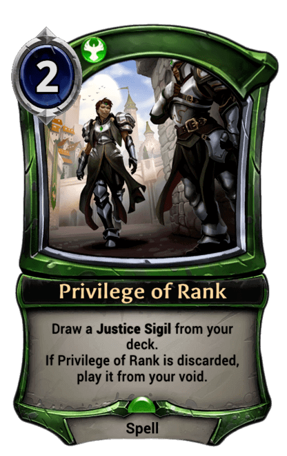 Card image for Privilege of Rank