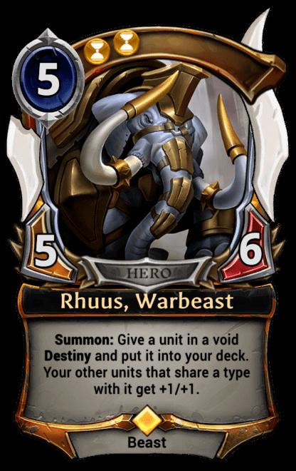 Card image for Rhuus, Warbeast