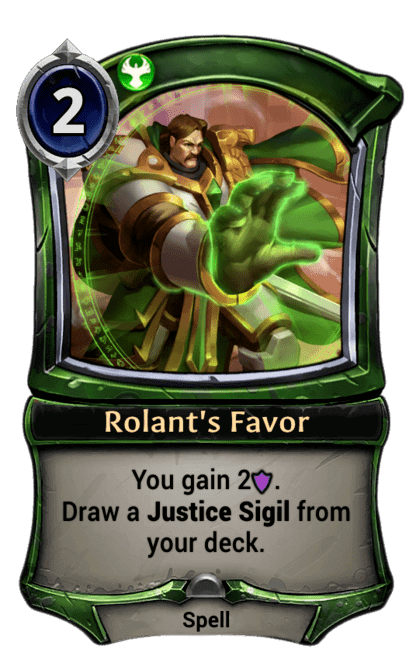 Card image for Rolant's Favor