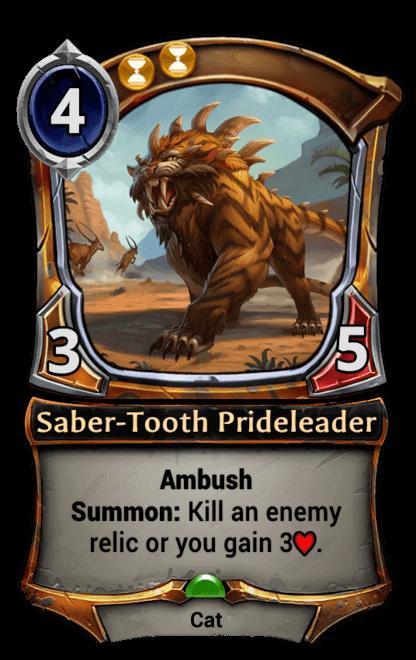Card image for Saber-Tooth Prideleader