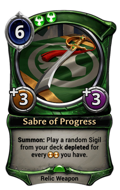 Card image for Sabre of Progress