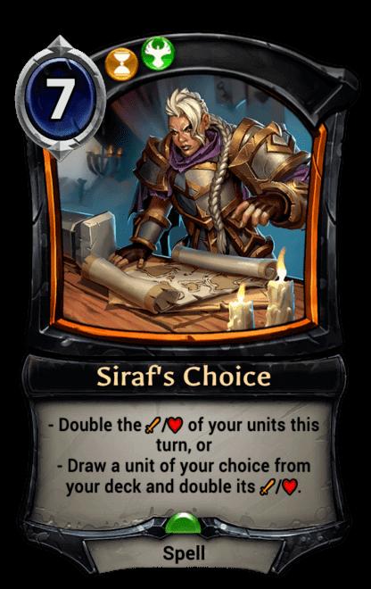 Card image for Siraf's Choice