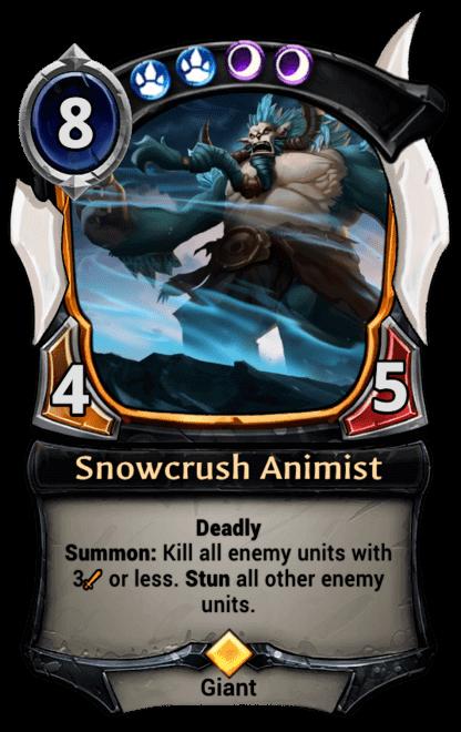 Card image for Snowcrush Animist
