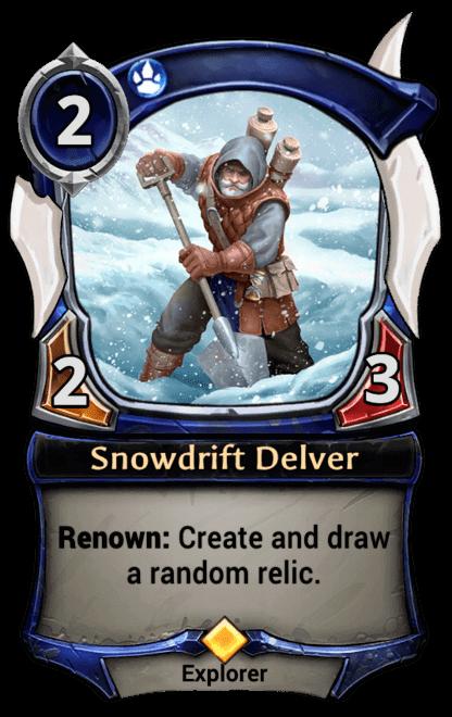 Card image for Snowdrift Delver