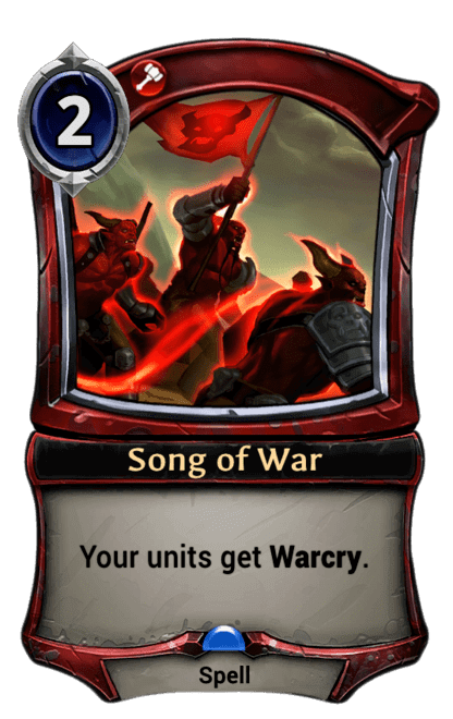 Card image for Song of War