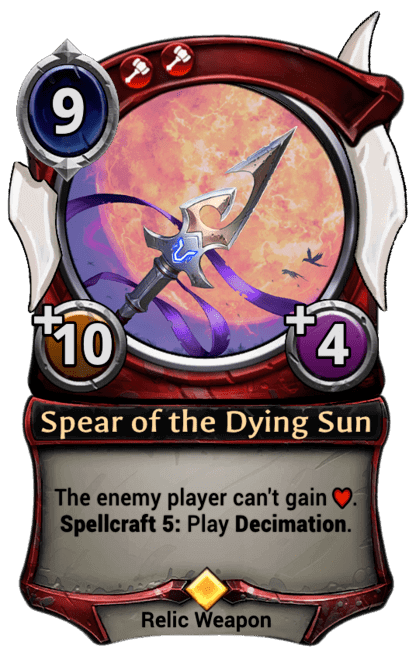 Card image for Spear of the Dying Sun