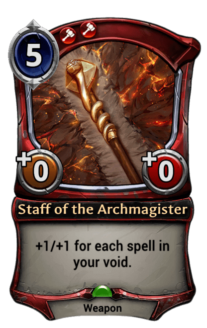 Card image for Staff of the Archmagister