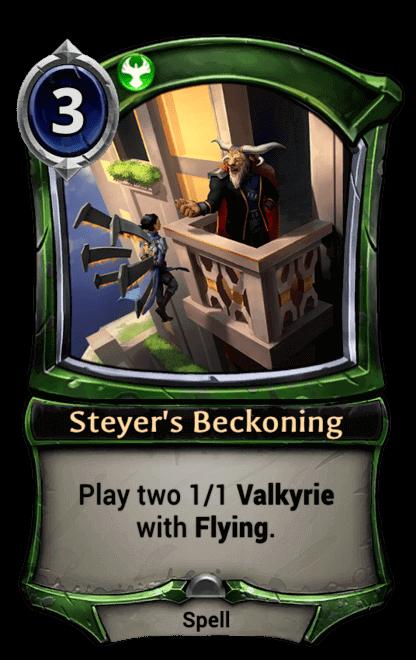 Card image for Steyer's Beckoning