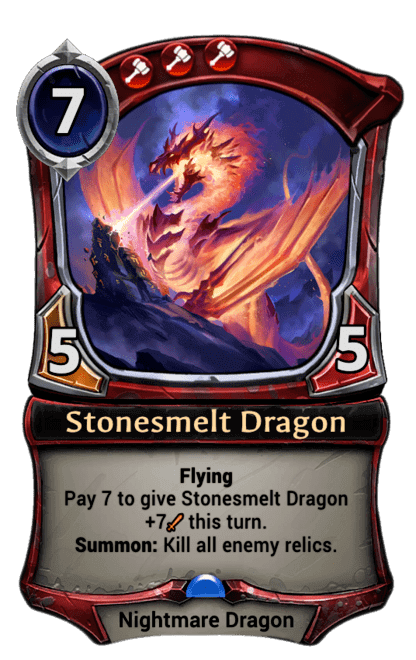 Card image for Stonesmelt Dragon