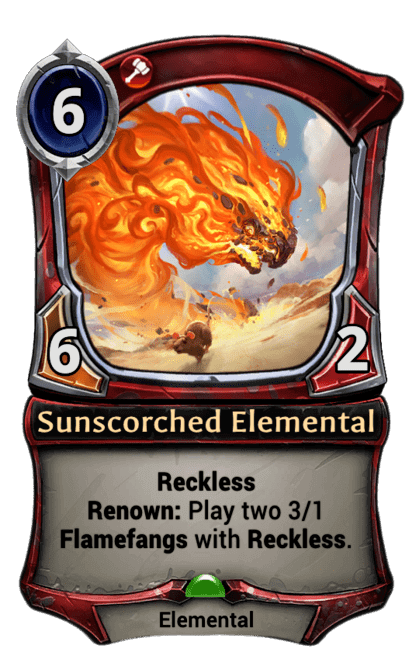 Card image for Sunscorched Elemental