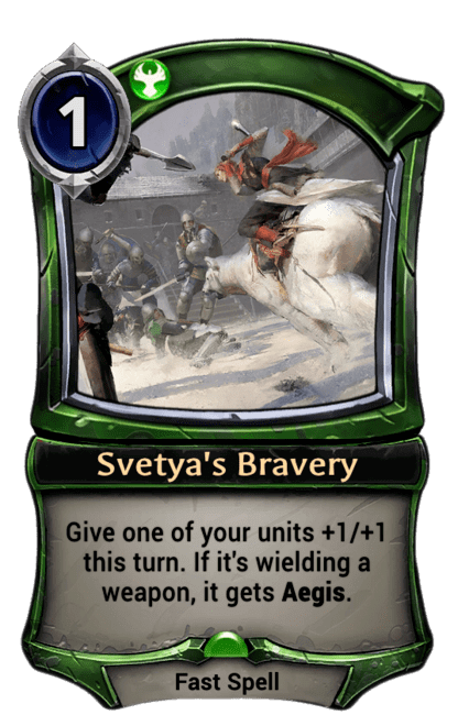 Card image for Svetya's Bravery