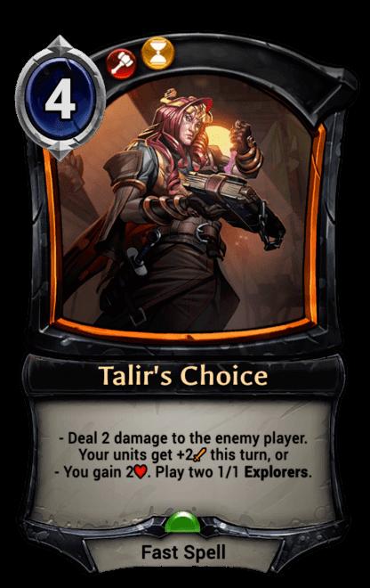 Card image for Talir's Choice