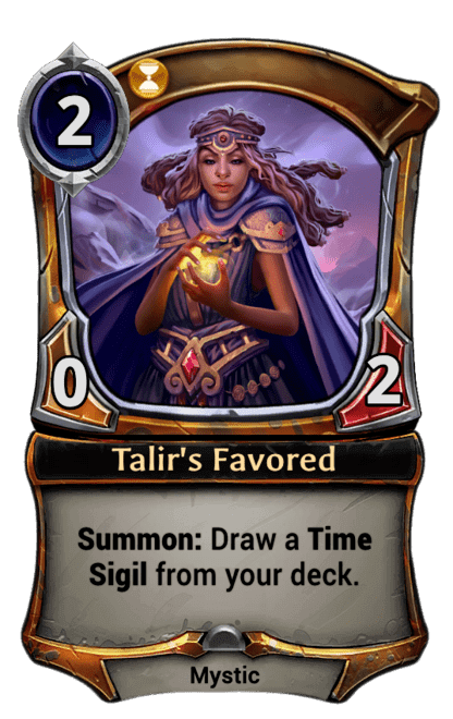 Card image for Talir's Favored