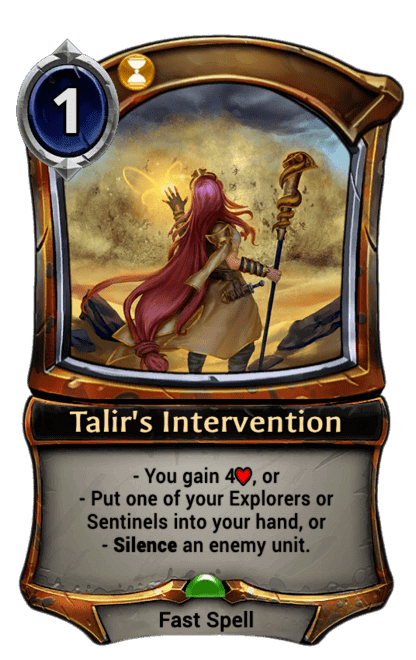 Card image for Talir's Intervention