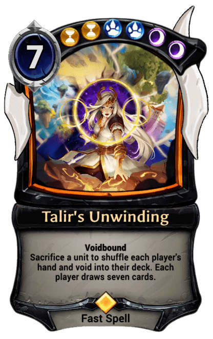 Card image for Talir's Unwinding