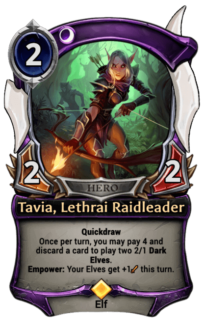 Card image for Tavia, Lethrai Raidleader