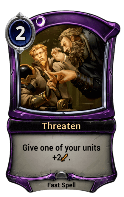 Card image for Threaten
