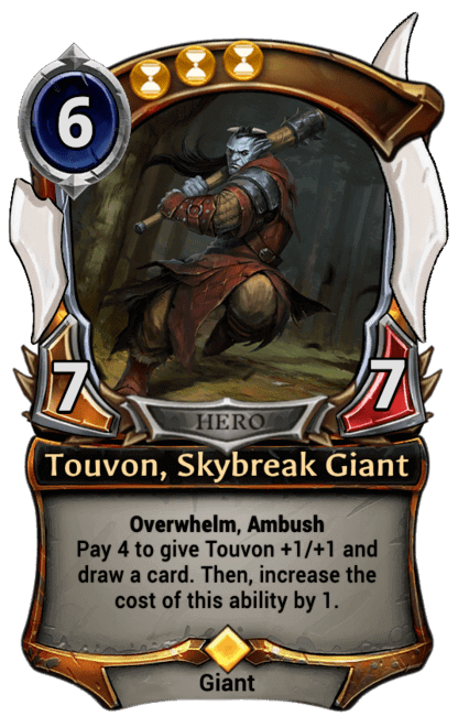 Card image for Touvon, Skybreak Giant