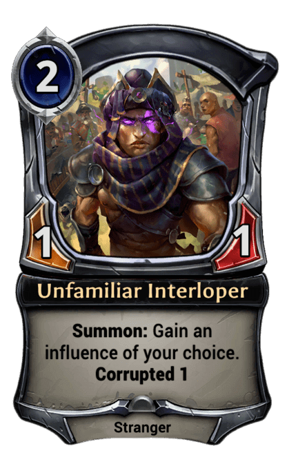 Card image for Unfamiliar Interloper