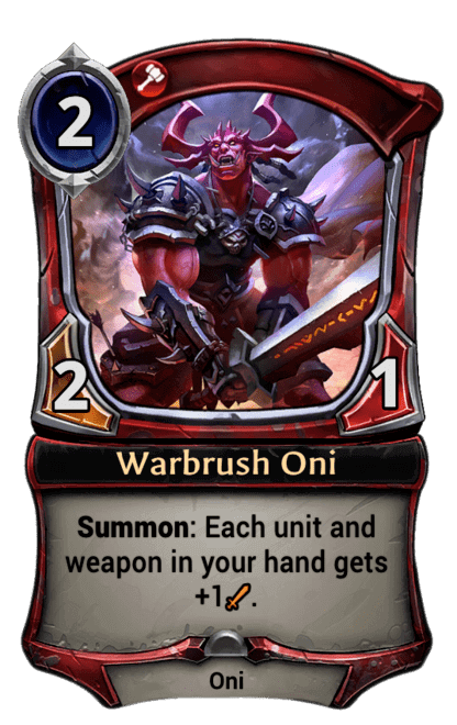 Card image for Warbrush Oni