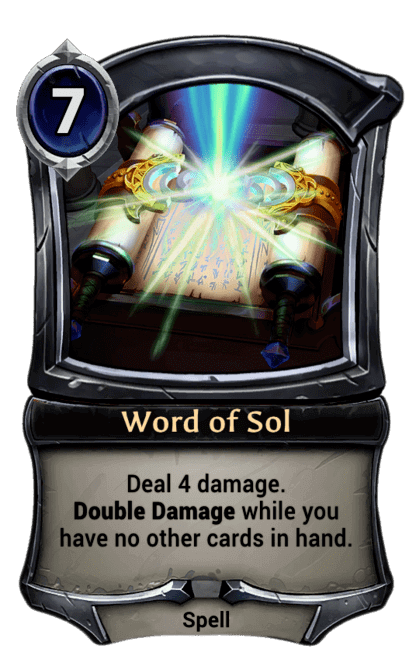 Card image for Word of Sol