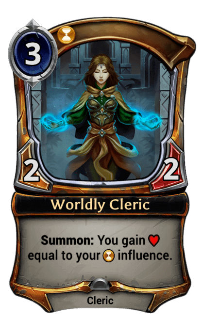 Card image for Worldly Cleric