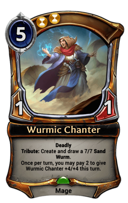 Card image for Wurmic Chanter