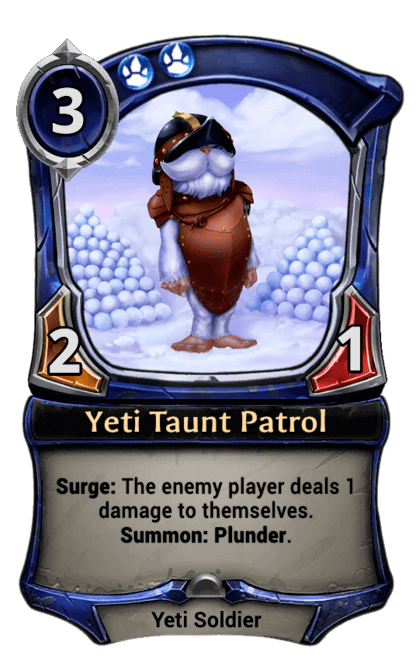 Card image for Yeti Taunt Patrol