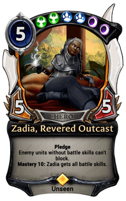 Card image for Zadia, Revered Outcast