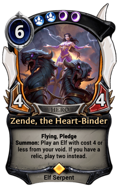 Card image for Zende, the Heart-Binder